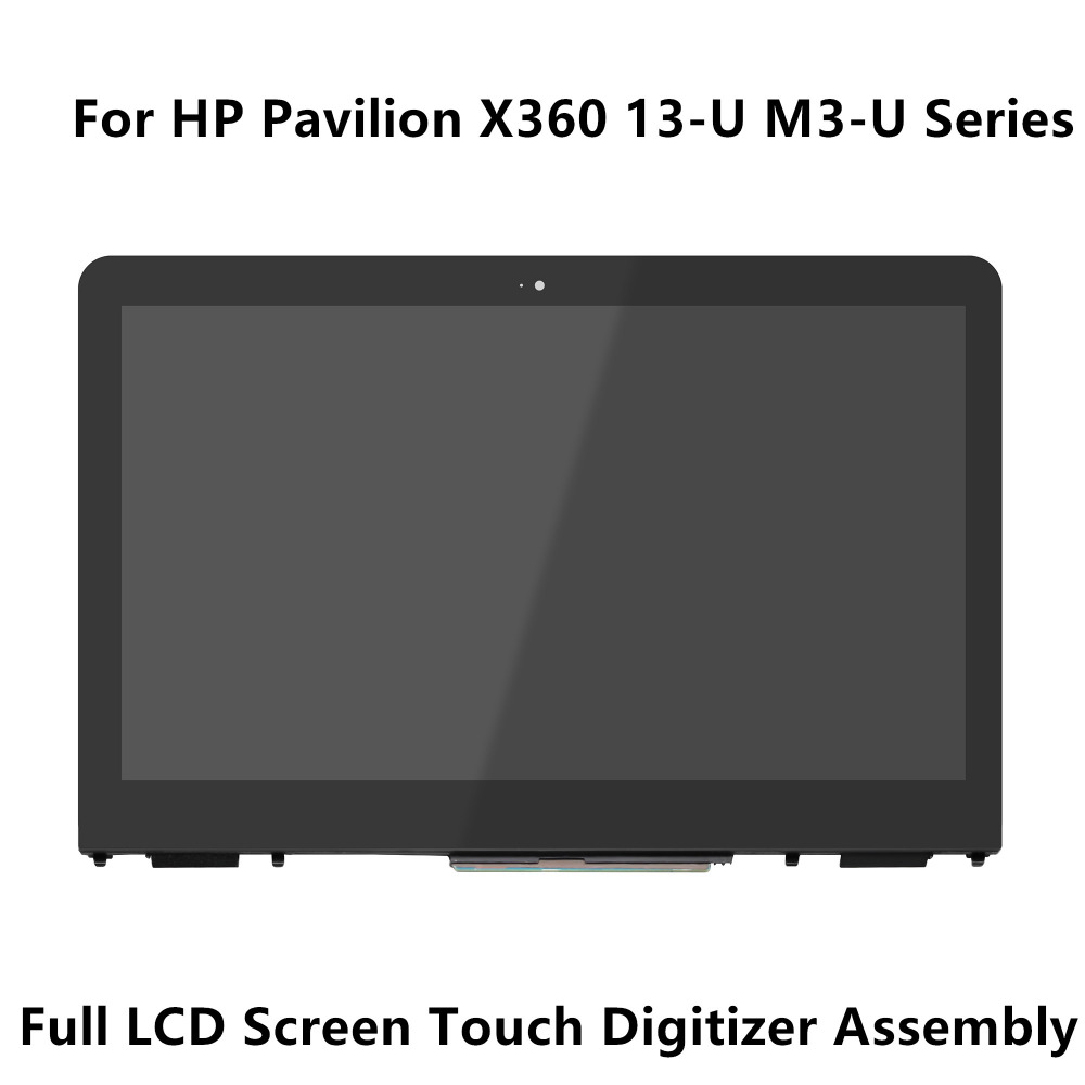 13.3''For HP Pavilion X360 13-U M3-U Series 30pin LCD Screen Display Touch Glass Digitizer Panel Assembly+Frame+Controller Board touch screen panel glass digitizer for korg m3 73 xpanded