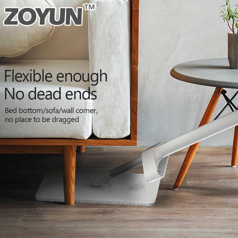 ZOYUN 360 Limpeza Fácil Mop Rotativo Para Lavagem De Madeira Telhas de Cerâmica Piso Magia Mop Pó Microfibra Pano Liso Alça Inteligente almofadas