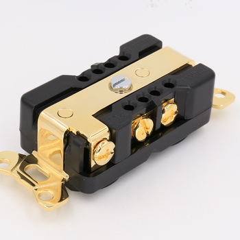 цена на Hi End POWER Socket US AC 20A Power Receptacles wall outlet power distributor Gold plated