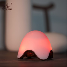 GX Diffuser New Battery Fragrance Lamp Car Air Freshener LED Night Light Mini Aromatherapy Diffuser Essential