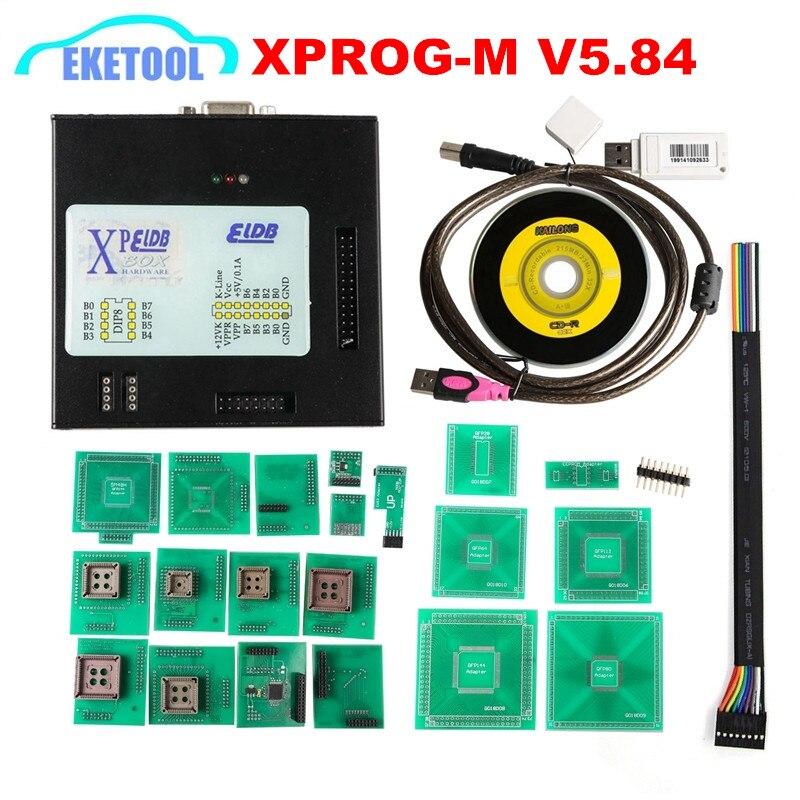 XPROG V5 70 V5 74 V5 84 USB Dongle With Full Adapters XPROG M 5 70