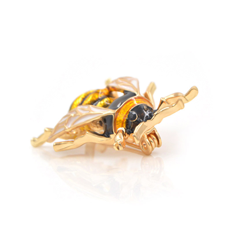 CINDY XIANG Unisex Colorful Insect Brooches Cute Bee Brooch Pin Gold Color Enamel Jewelry Fashion Dress Accessories High Qulity 5