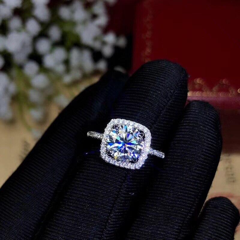 Les concepteurs recommandent les pierres précieuses les plus populaires de cette année, bague en diamant Moissanite, bijoux pour femme en argent Sterling 925