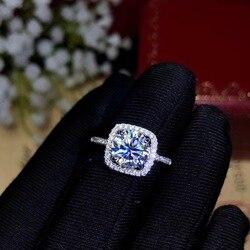 Tasarımcılar tavsiye bu yıl en popüler taş, Moissanite Pırlanta Yüzük, Lady Takı 925 Ayar Gümüş