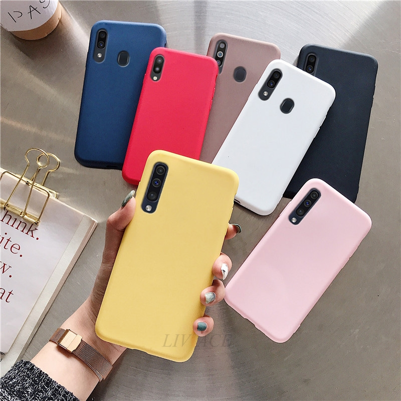 candy color silicone phone case on for samsung galaxy a7 2018 a8 a9 star lite pro a9s a8s a6s a6 2018 soft tpu back cover coque