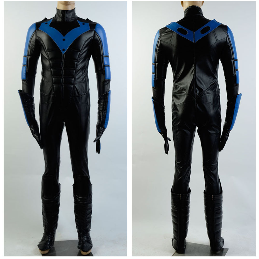 Halloween Cosplay Batman Arkham City Nightwing Costume Cosplay Movie Adult Cosplay Costume Outfit Suit Attire Full Sets