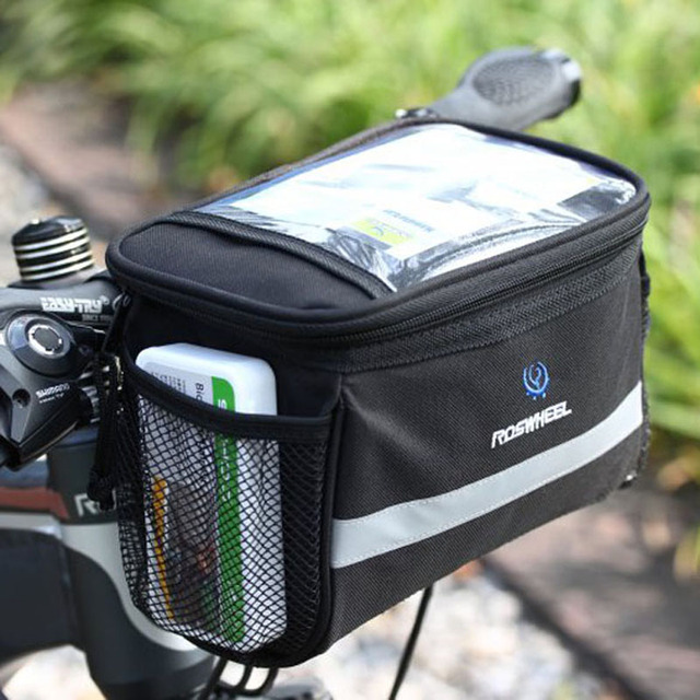 Bicycle Bags Front Handlebar Cycling Front Basket Frame
