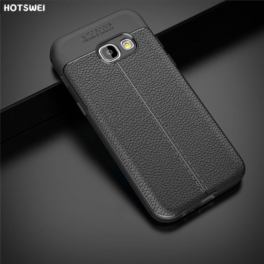 HOTSWEI étui pour samsung Galaxy A3 A7 A5 2016 étui pour samsung Galaxy A5 A7 A3 2017 Mat Anti-dérapant Housse En Silicone Souple Fundas