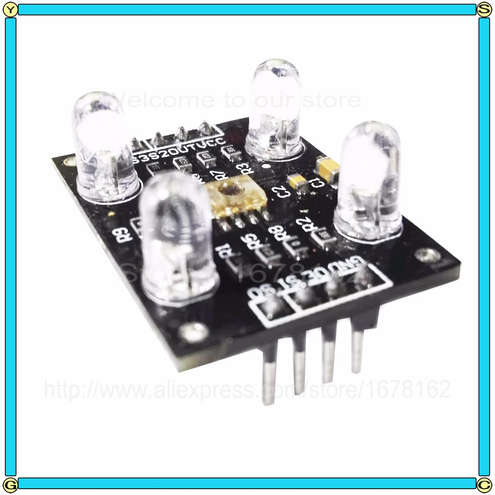 10pcs Lot Color Sensor Tcs3200d Tcs230 Tcs3200 Recognition Arduino Sensing Tutorial Tsc230 Tsc3200 Circuit Detector Module Dc 3 5v Input In Sensors From Electronic Components Supplies On