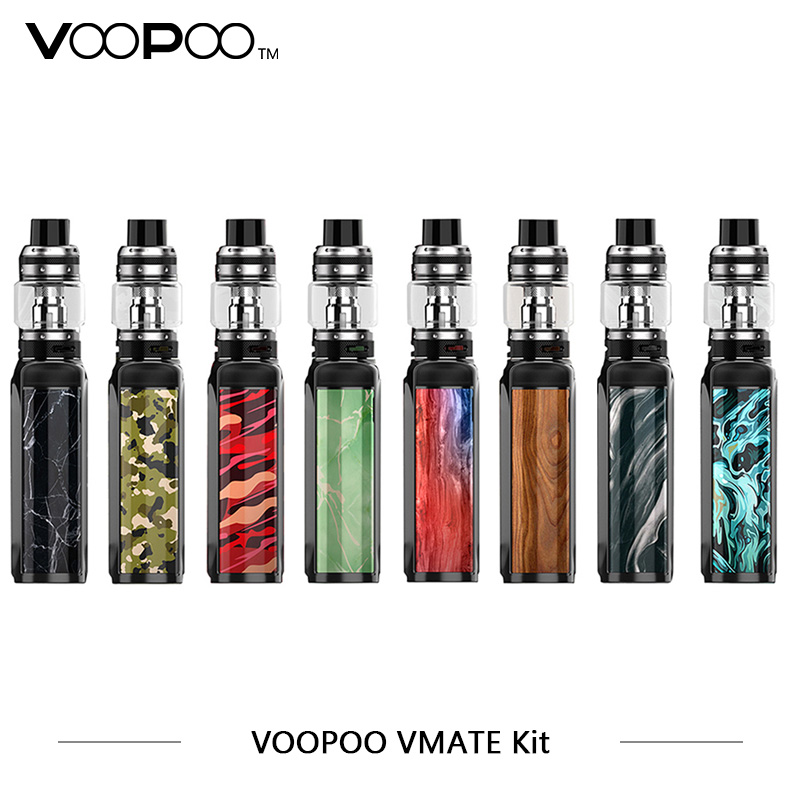 Original VOOPOO Vmate Kit 200W Vmate box mod With UFORCE T1 8ml Tank Dual Battery TC Box Mod Kit Electronic Cigarettes Vaporizer 100% original voopoo uforce t1 subohm tank 3 5ml 8ml with all new n1 0 13ohm mesh coil