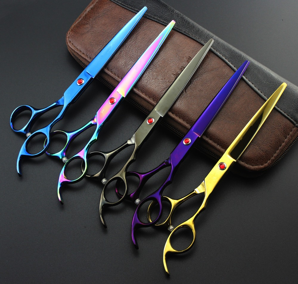 Professional 7.0 Animal Pet Cutting & Thinning set Hairdressing dog grooming Scissors shears Barber hair scissors Free Shipping 5pcs model lithium battery balancing head protector ab buckle clip 2s 3s rc parts plug connector protector