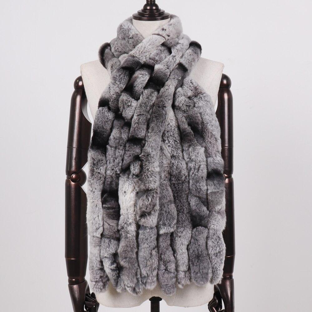 Image 5 - 2019 Women Winter 100% Genuine Real Rex Rabbit Fur Scarf Natural Soft Rex Rabbit Scarves Lady Warm Real Rex Rabbit Fur Muffler-in Women's Scarves from Apparel Accessories