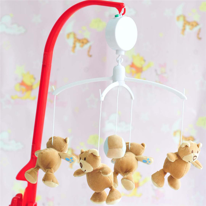 35 Song Rotary Baby Mobile Crib Bed Toy Clockwork Movement Music Box Baby Rattles & Mobiles New Year Gift For Baby P10