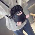 Cute Individual Character Cartoon Hat PU Leather Backpack Shoulder Bags Small Size