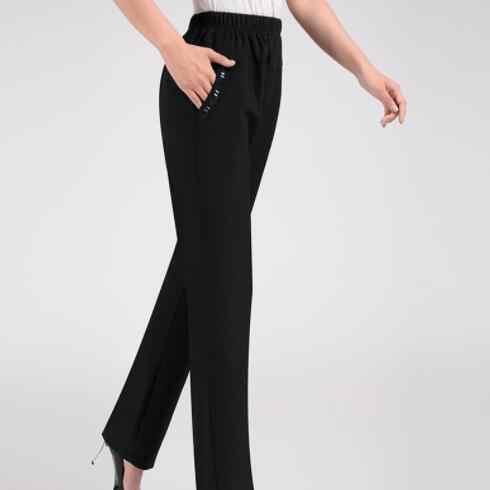 Orta yaşlı Kadın Artı kadife Pantolon Artı Boyutu 7XL 8XL Elastik Bel Uzun Pantolon Büyük boy Kadın kış pantolonları DV110