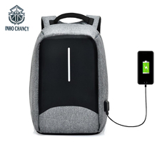 INHO CHANCY Brand Multifunctional USB Charging Travel Back Pack Men 15 Inch Laptop Bag Waterproof Guard Against Theft Backpack