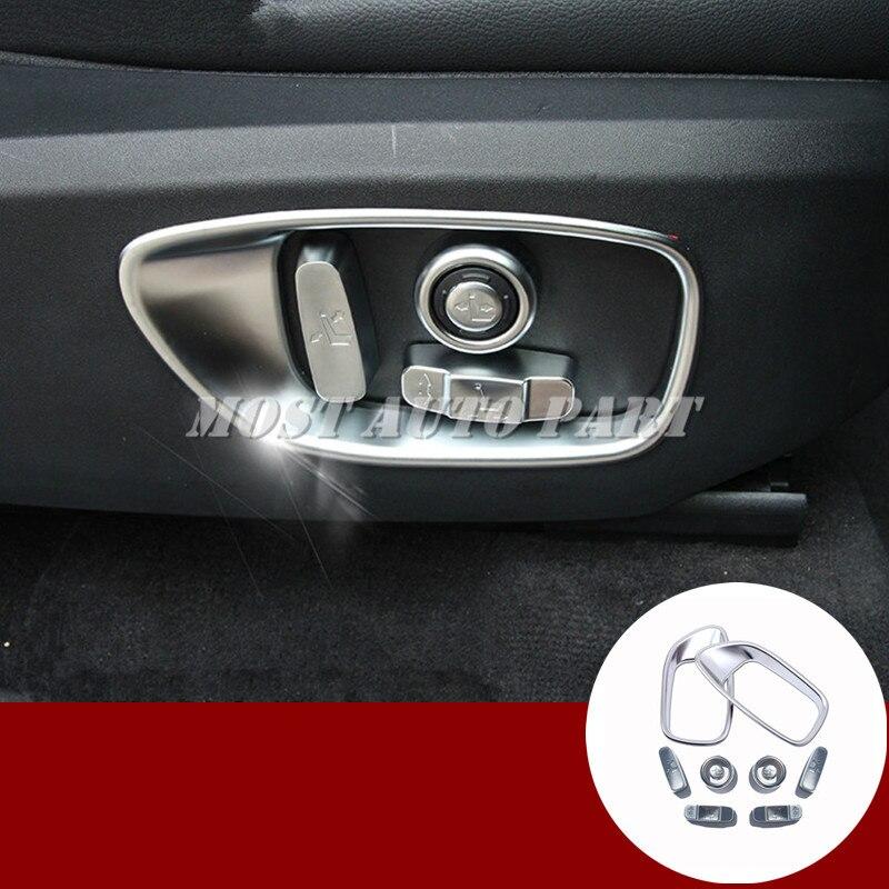 10 pièces housse de bouton de réglage de siège de voiture pour Land Rover Discovery Sport 2015-2018