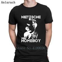 Nietzsche es mi amigo T camisa divertido gráfico Super algodón diseñador  camisa Natural caballeros personalizado en 341ff07750c