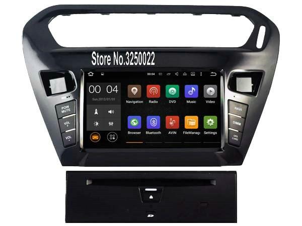 Android 7 1 font b Car b font Dvd Navi Player FOR CITROEN ELYSEE PEUGEOT 301
