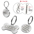 Dog ID Tag Personalized Dog Accessories Stainless Steel Customized Anti-lost Cat Dog Tag With Free Training Whistle