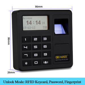 Image 2 - Obo mãos rfid biométrico de impressão digital sistema controle acesso kit magnético elétrico/parafuso/greve fechadura para porta + fonte alimentação conjunto completo