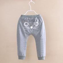 Cartoon Kawaii Boy Girl Pants Newborn Baby Pants Cotton Cat Owl Trousers Cute Infant New Boys Harem Pants Pink for Girl D15