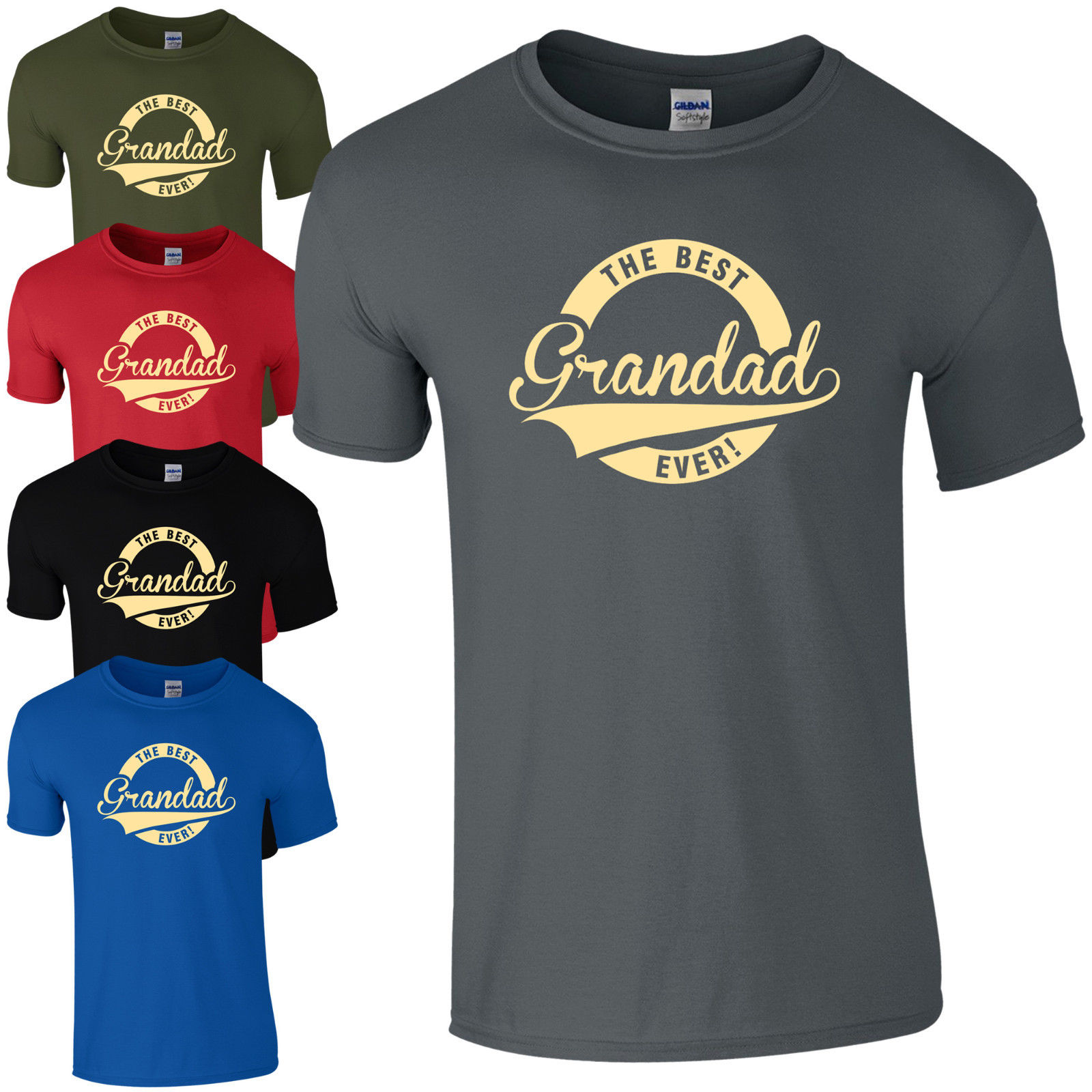 The Best Grandad Ever! T-Shirt - Funny Fathers Day Present Dads Gift Mens Top