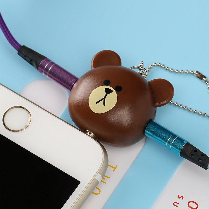 Fffas Медведь наушников Музыка Поделиться кабельного адаптера <font><b>Splitter</b></font> 1 Мужской до 2 Женский 3.5 мм симпатичный мобильный телефон аудио обмена 3.5 AUX&#8230;