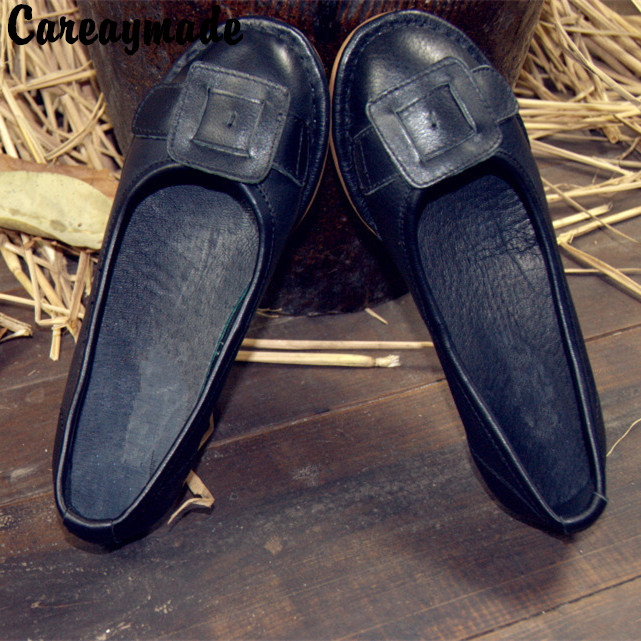 Free shipping,2017 New Retro Leather shoes hand personality original Top layer Genuine leather comfortable leisure shoes