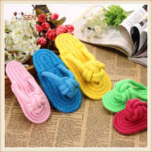 Dogs Toy Puppy Chew Play Cute Plush Slipper Shape Squeaky Toy for Dogs Pet Supplies