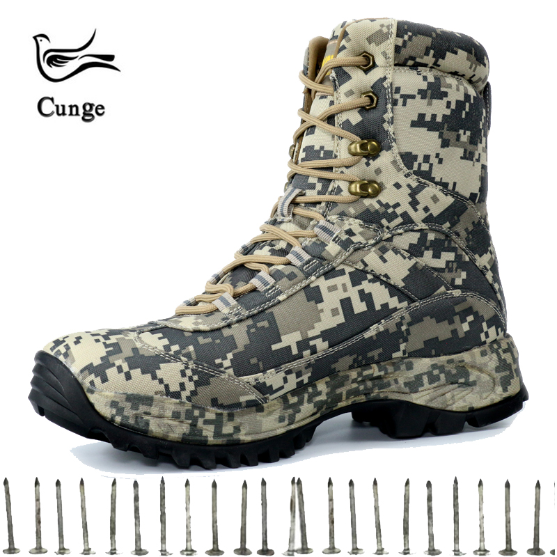 Men's Desert Combat Boots Military Outdoor Waterproof Tactical Boots Travel Hiking Shoes New High Top Camouflage Shoes Hunting new palladium fashion style high top tactical military boots man and woman outdoor travel hiking boots comfortable canvas shoe