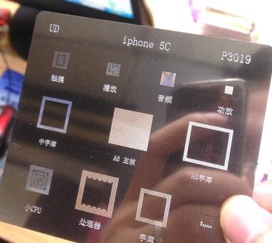 10pcs/lot BGA reballing stencils for iphone 5C p3019