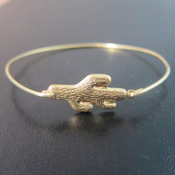Золото/серебро Цвет saguarocactus браслет подарок для друга, мама модные красивые юго Аризона Jewelry YPQ0097