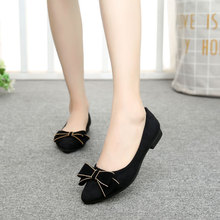 Women Ballet Flats Shoes New Spring Fashion Boat For Work Cloth Sweet Bow Loafers Slip On