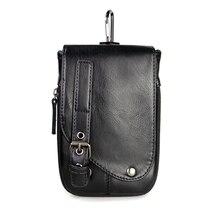 2016 Nouveau Mode Hommes Mini PU En Cuir Hasp Messager Sacs Étanche sac d'épaule Occasionnel de Téléphone Suspendus sac Pochette pour Hommes