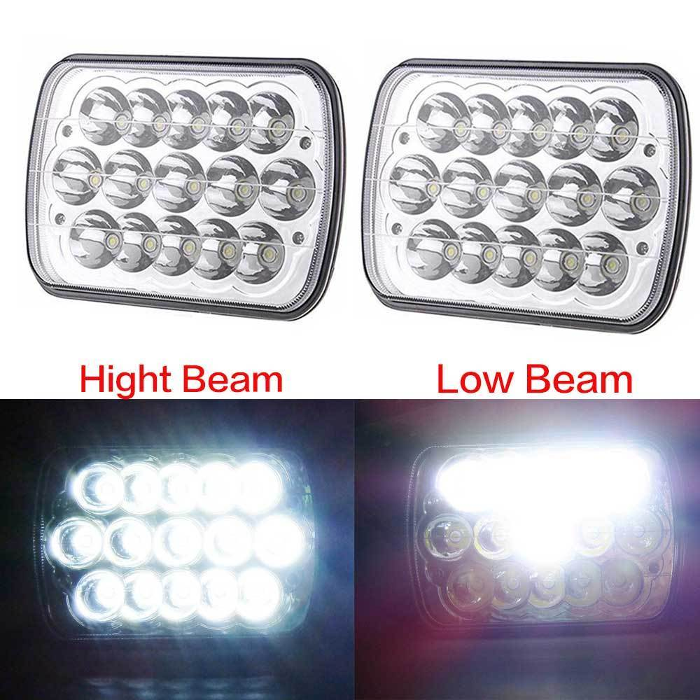 7x6 LED Headlight Sealed Dual Beam Headlamp Replacement HID Xenon H6014 H6052 H6054 for Jeep Wrangler JK YJ CJ XJ