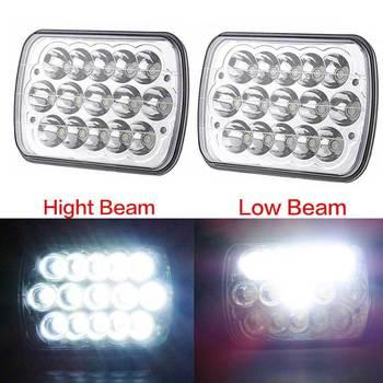 7x6 LED Headlight Sealed Dual Beam Headlamp Replacement HID Xenon H6014 H6052 H6054 for Jeep Wrangler JK YJ CJ XJ