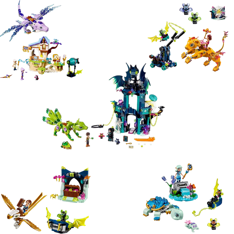 Elf Series Toys 5 Style Lenok Tula Tower and Earth Fox Rescue Toy Assembled Building Blocks Compatible 41194 41193 Educatio цены онлайн