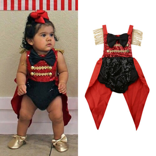 2019 Circus party Summer Toddler Baby Girl Kids Outfit Sequin Swallowtail   Romper   Jumpsuit Sunsuit Clothes for kids children