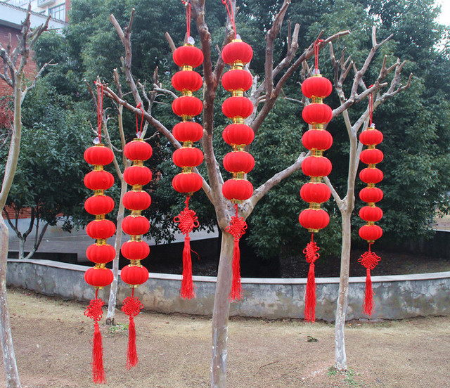 dia 4cm 9cm round red chinese lantern paper lantern chinese new year decorations party
