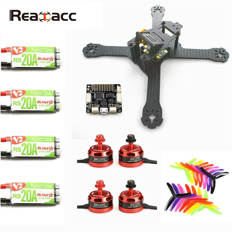 Realacc X210 4mm Frame w/ F3 6 DOF Racerstar BR2205 2600KV Brushless Motor RS20A V2 Blheli_S 5X4X3 Propeller for Racing RC Drone цена и фото