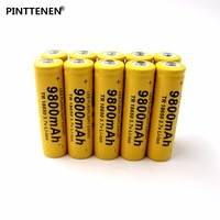 10PCS High Quality 9800mAh 3 7V 18650 Lithium Ion Batteries Rechargeable Battery For Flashlight Torch Free