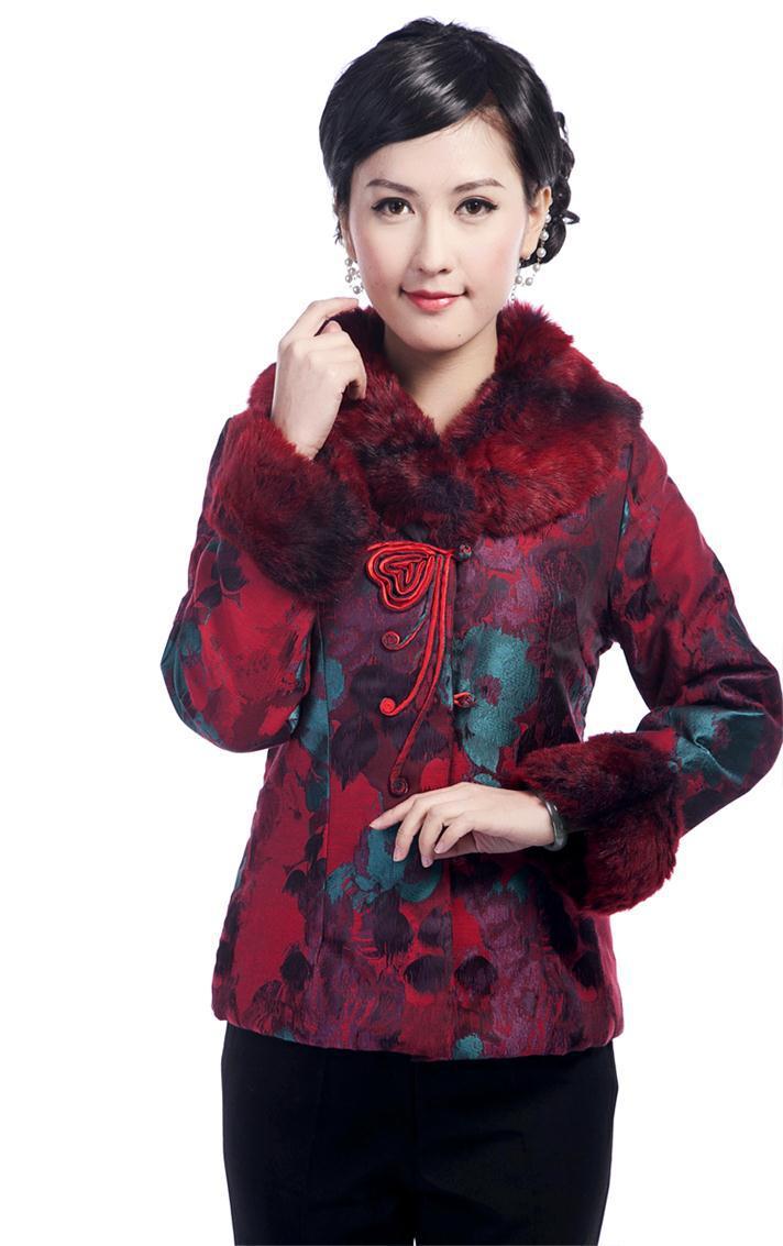 Femmes Mode Xxxl De Survêtement Chinois Xxl Taille 4xl Blue Vêtements Xl M Ouatée T2375 Costume Dames Veste Manteau L burgundy D'hiver qqp1wfat