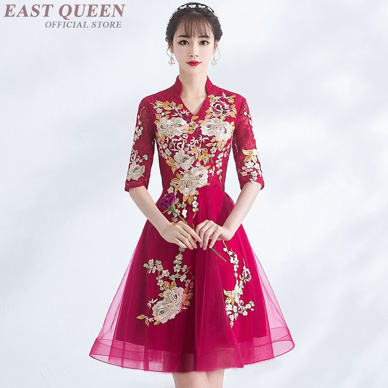 Chinese wedding dress traditional oriental style <font><b>2018</b></font> <font><b>bridal</b></font> <font><b>gown</b></font> bridesmaid dresses ceremony festival dress AA4093 image