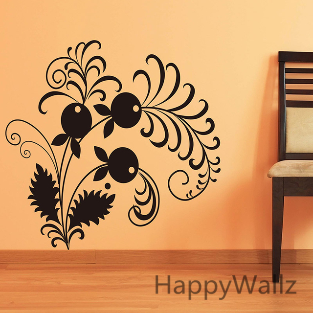 Happiness flower wall sticker 3d beautiful flower wall decals diy vinyl flower decors flower wallpaper f31