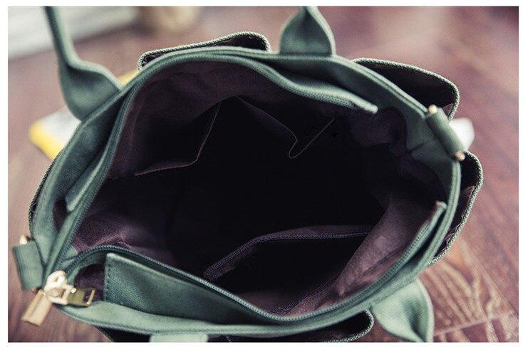 Della Di Modo Femminile grigio Nero Svago Donne Canapa il Beige Singolo Nuovo Doppia Tasca Casual Spalla Tendenza Stile verde Sacchetto Tela Delle 0tpqcwX