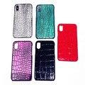 3D Crocodile Skin Leather Case Voor iPhone X XS MAX XR 10 8 7 6 S 6 S plus Case funda Cover Zwart Rood Groen Grijs Paars Groothandel