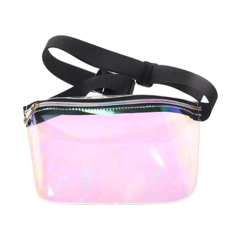 Women Men PVC Waist Chest Bag Laser Purse Waterproof Fashion Belt Fanny Pack
