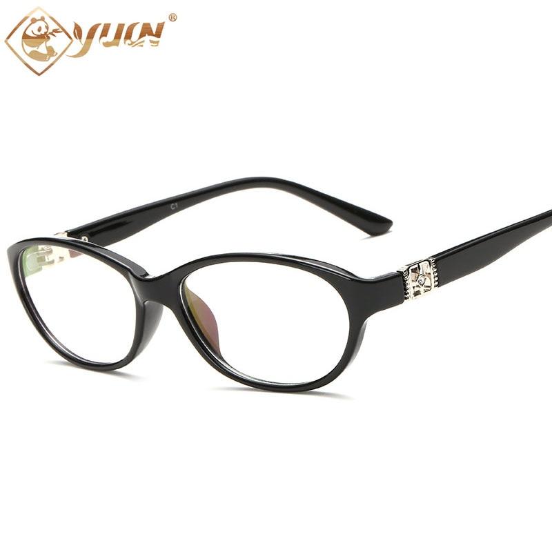 YUW famous luxury strass brillerahmen klar linsen frauen brillen ...