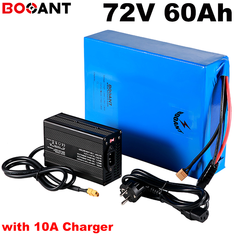 with 10A Charger 20S <font><b>72v</b></font> <font><b>60ah</b></font> 3000w electric bike <font><b>battery</b></font> for Samsung 18650 cell <font><b>72v</b></font> 5000w 7000w scooter <font><b>battery</b></font> +100Amps BMS image